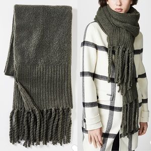 ✨New FREE PEOPLE Jaden Rib Knit Blanket Scarf